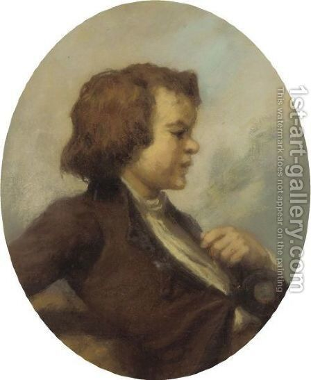 Portrait Of A Young Boy by Jean-Francois Millet - Reproduction Oil Painting
