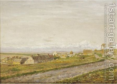 Landscape With Field-Workers by Marie Francois Firmin-Girard - Reproduction Oil Painting