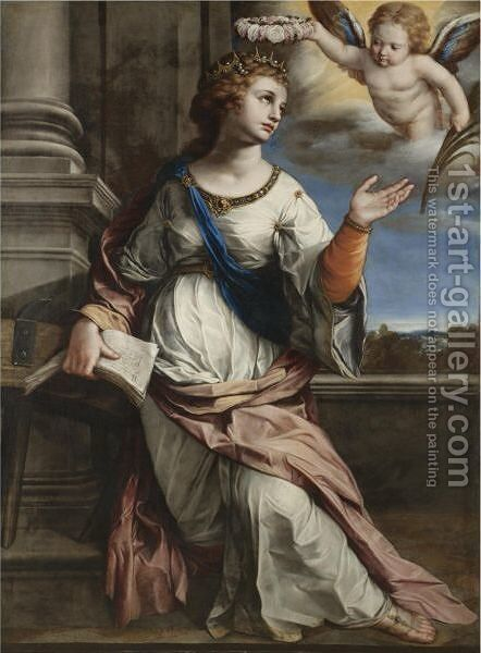 St. Catherine Of Alexandria by (after) Jacques Blanchard - Reproduction Oil Painting