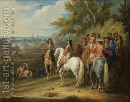 The Arrival Of Louis XIV At The Taking Of Maastricht, 30 June 1673 by Adam Frans van der Meulen - Reproduction Oil Painting