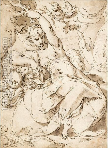 The Element Of Earth by Abraham Bloemaert - Reproduction Oil Painting