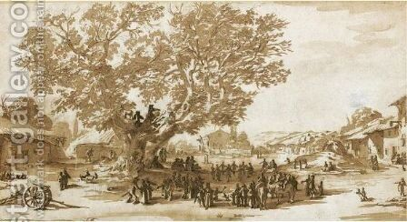 The Fair At Gondreville, Or Mayday Celebrations At Xeuilley by Jacques Callot - Reproduction Oil Painting
