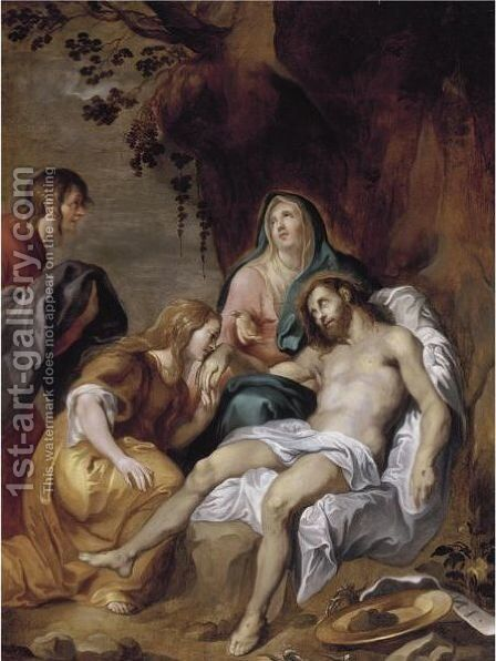 The Pieta by (after) Dyck, Sir Anthony van - Reproduction Oil Painting