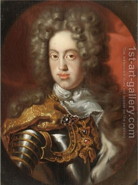Portrait Of A Gentleman, Half Length, Wearing Armour by Jean Ranc - Reproduction Oil Painting