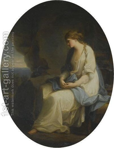Calypso Mourning For Odysseus by (after) Kauffmann, Angelica - Reproduction Oil Painting