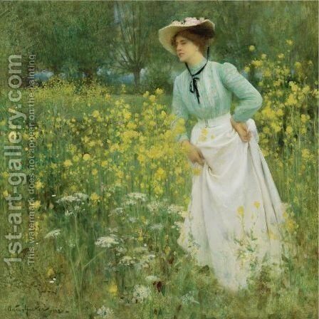 A Morning Walk by Arthur Hacker - Reproduction Oil Painting