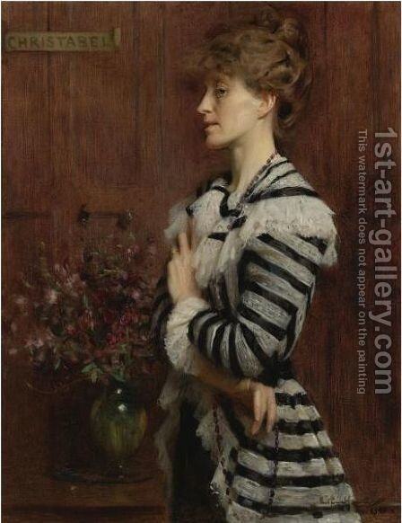 Portrait Of Christabel Cockerell, Lady Frampton by Arthur Hacker - Reproduction Oil Painting