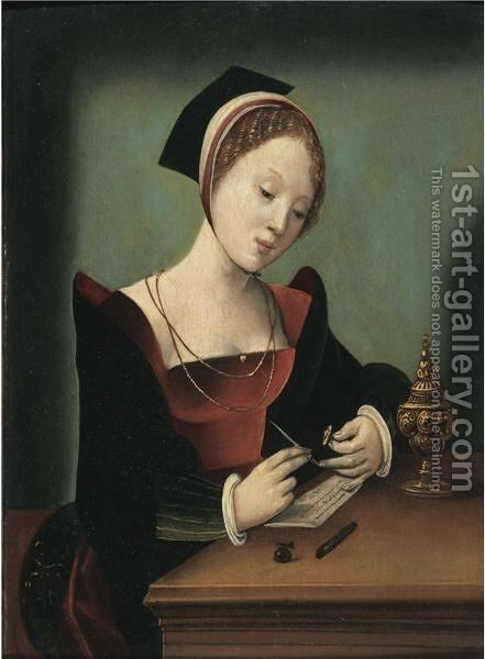 The Virgin Reading In An Interior by Italian Unknown Master - Reproduction Oil Painting