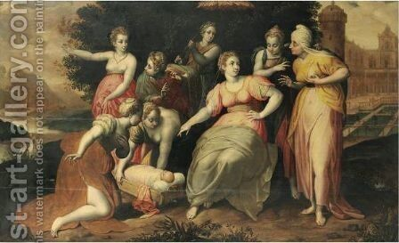 The Finding Of Moses by (after) Jacob De Backer - Reproduction Oil Painting