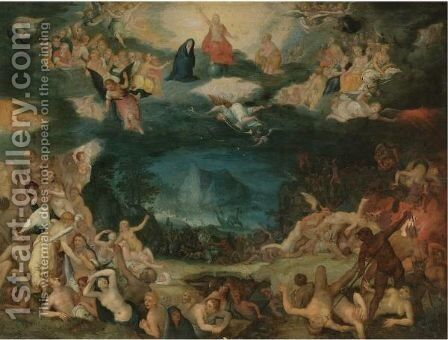The Last Judgement by (after) Jan The Elder Brueghel - Reproduction Oil Painting