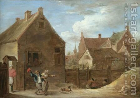 Peasants Returning Home From The Inn by David The Younger Teniers - Reproduction Oil Painting