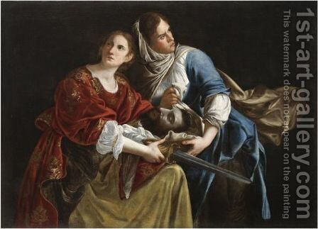 Judith And Her Maidservant With The Head Of Holofernes by (after) Orazio Gentileschi - Reproduction Oil Painting