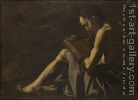 A Hermit Saint In The Wilderness, Probably Saint Jerome by Giovanni Battista Caracciolo - Reproduction Oil Painting