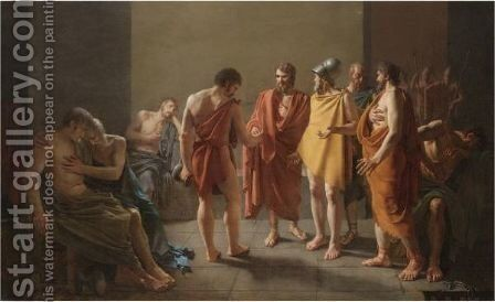 A Subject Taken From Ancient History, Traditionally Thought To Represent The Death Of Seneca by Michel-Martin Drolling - Reproduction Oil Painting