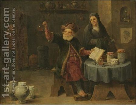 Brusselsthe Visit To The Physician by David The Younger Teniers - Reproduction Oil Painting