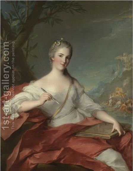 Portrait Of Marie-Genevieve Boudrey, Represented As A Muse by Jean-Marc Nattier - Reproduction Oil Painting