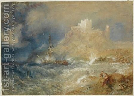 Bamborough Castle by Turner - Reproduction Oil Painting