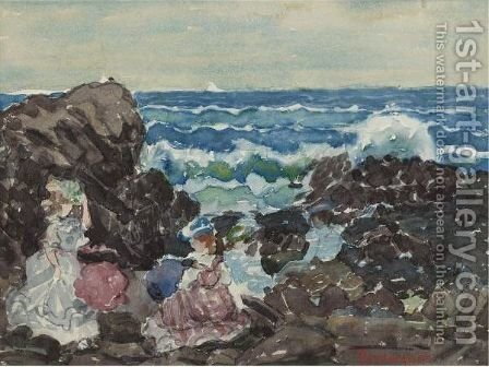 Surf, Cohasset by Maurice Brazil Prendergast - Reproduction Oil Painting