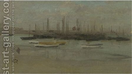 Blue And Opal Herring Fleet by James Abbott McNeill Whistler - Reproduction Oil Painting