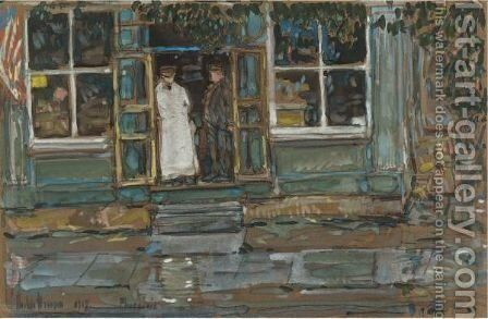 Grocery Store, Phoenecia by Frederick Childe Hassam - Reproduction Oil Painting