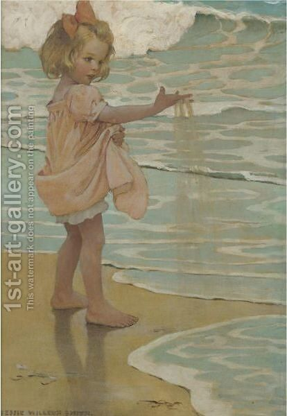 Little Drops Of Water by Jessie Willcox Smith - Reproduction Oil Painting