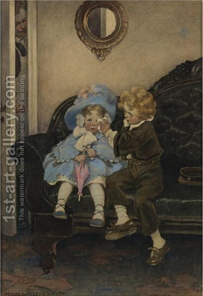 The Runaway Couple by Jessie Willcox Smith - Reproduction Oil Painting