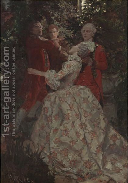 Here, Andre A Spy by Howard Pyle - Reproduction Oil Painting