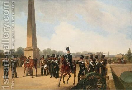 Lifeguards On Constable Square, Gatchina by Bogdan Pavlovich Villevalde - Reproduction Oil Painting