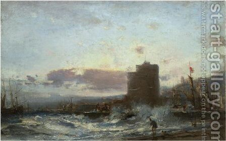 Harbour In Baku by Aleksei Petrovich Bogoliubov - Reproduction Oil Painting