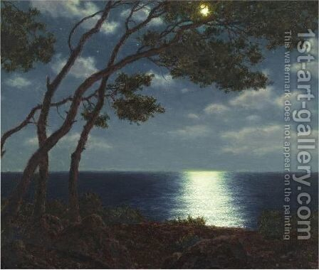 Moonlight On The Water by Ivan Fedorovich Choultse - Reproduction Oil Painting