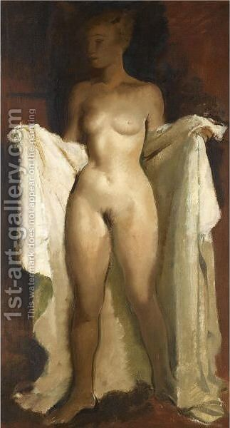 Standing Nude by Alexander Evgenievich Yakovlev - Reproduction Oil Painting