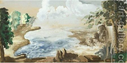 Chinese Landscape by Alexander Evgenievich Yakovlev - Reproduction Oil Painting