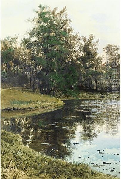 By The Lake by Albert Nikolaevich Benois - Reproduction Oil Painting