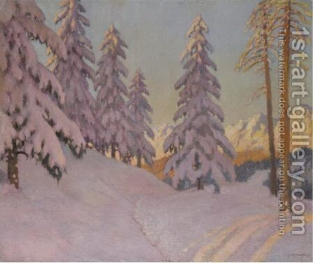 Lilac Snow by Mikhail Markianovich Germachev - Reproduction Oil Painting