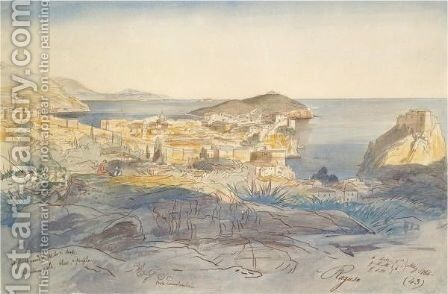 View Of Ragusa, Sicily by Edward Lear - Reproduction Oil Painting