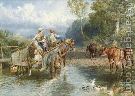 Returning From Market by Myles Birket Foster - Reproduction Oil Painting