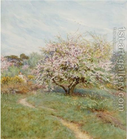 Crabapple Trees, Hampstead Heath by Helen Mary Elizabeth Allingham, R.W.S. - Reproduction Oil Painting