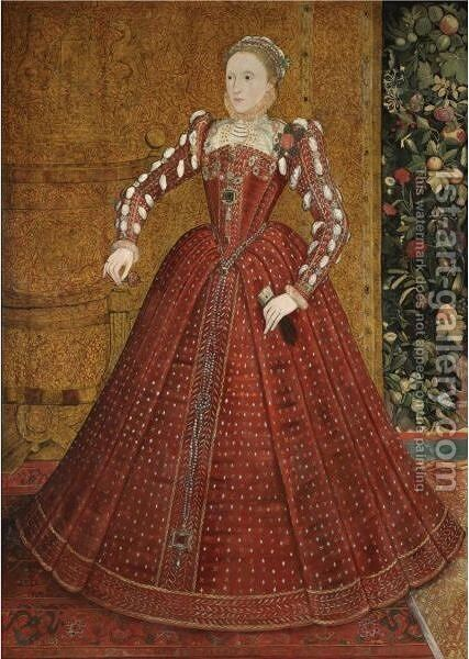 Portrait Of Queen Elizabeth I (1533-1603) by Steven van der Meulen - Reproduction Oil Painting
