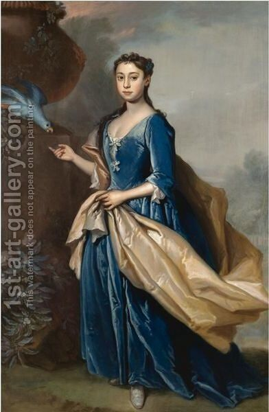 Portrait Of A Lady by (after) Richard Van Bleeck C.1670-C - Reproduction Oil Painting