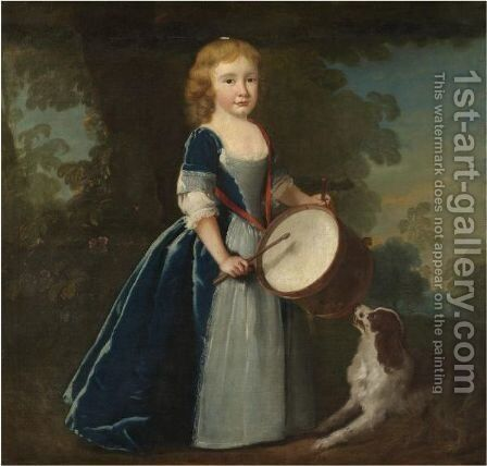 Portrait Of A Young Boy by (after) Bartholomew Dandridge - Reproduction Oil Painting