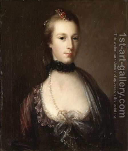 Portrait Of A Lady by John Astley - Reproduction Oil Painting