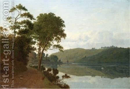 A Wooded River Landscape by James Arthur O'Connor - Reproduction Oil Painting