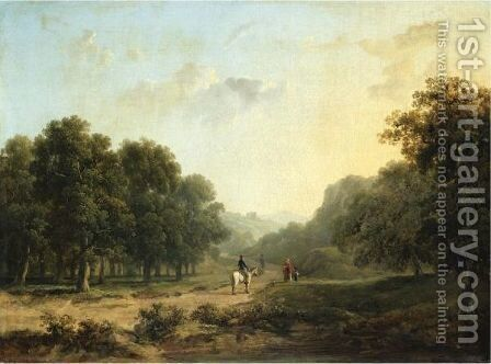 Landscape With Figures In The Foreground And A Ruin Beyond by James Arthur O'Connor - Reproduction Oil Painting
