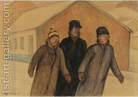 Winter, Slovakia by Diego Rivera - Reproduction Oil Painting