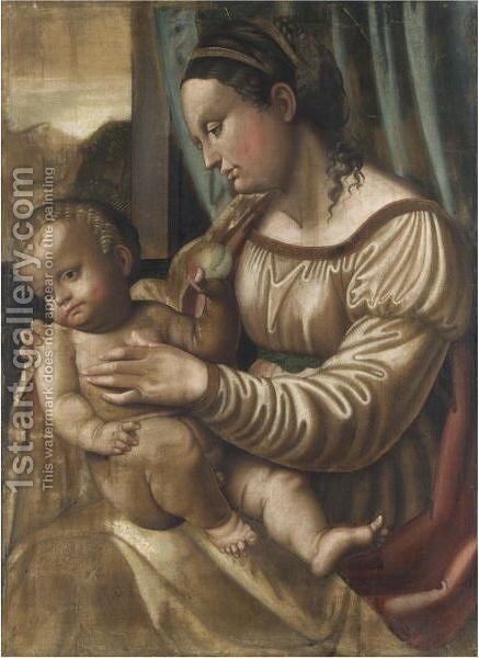 Madonna Col Bambino 7 by Italian School - Reproduction Oil Painting