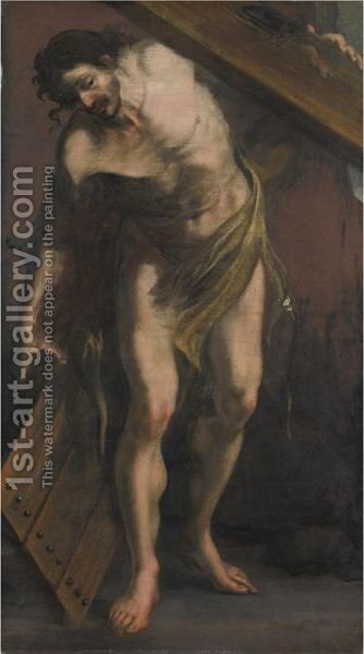 Cristo Portacroce 3 by Italian School - Reproduction Oil Painting
