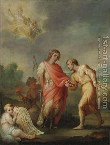 Allegoria by (after) Francesco Corneliano - Reproduction Oil Painting
