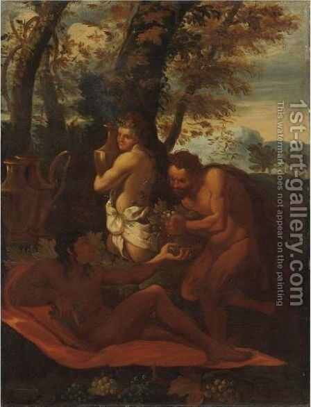 Scena Di Baccanale by (after) Nicolas Poussin - Reproduction Oil Painting