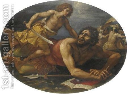 Davide E Golia by (after) Giuseppe (d'Arpino) Cesari (Cavaliere) - Reproduction Oil Painting