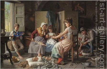 The Thread Of Life by Giovanni Battista Torriglia - Reproduction Oil Painting